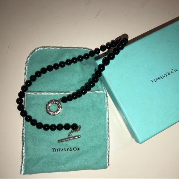 6d1153e5f Tiffany & Co. Jewelry | Tiffany Black Onyx Beads Toggle Necklace ...
